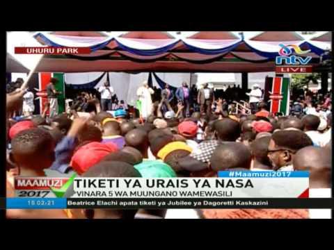 FULL VIDEO: NASA unveil flag bearer at Uhuru Park rally - #ElectionsKE