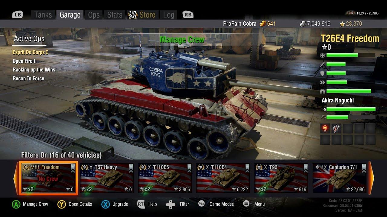 World of tanks xbox one beta quot my garage quot amazing graphics youtube