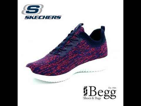 574c5bcbc3d89 Skechers Bright Horizon 12831 NVPK Navy-Pink trainers - YouTube