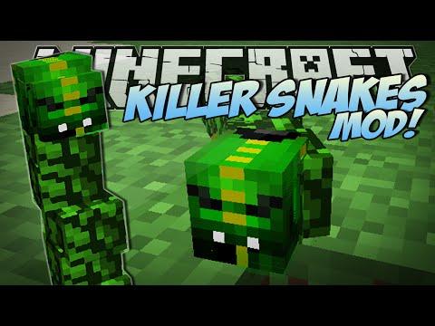 Minecraft | KILLER SNAKES MOD (Become a Snake Charmer!) | Mod Showcase