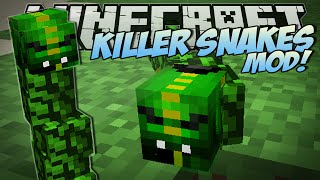 Minecraft | KILLER SNAKES MOD (Become a Snake Charmer!) | Mod Showcase