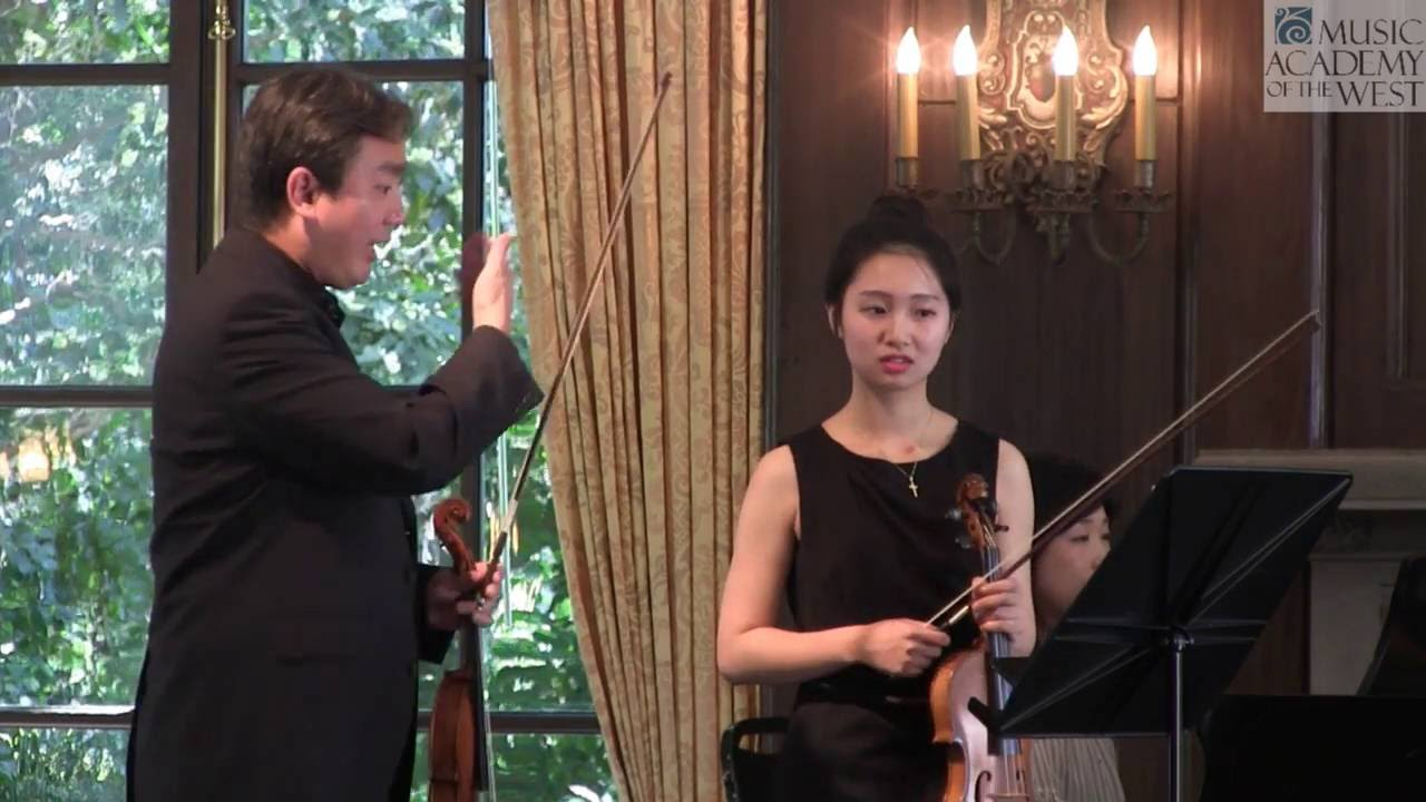 Frank Huang Violin Masterclass August 2, 2016