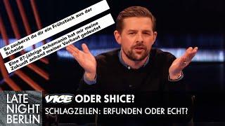 Frühstück aus der Sch*ide: Welche VICE Schlagzeilen sind erfunden? | Late Night Berlin | ProSieben