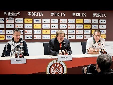 16. Spieltag   SVW - SGD   Pressekonferenz nach dem Spiel