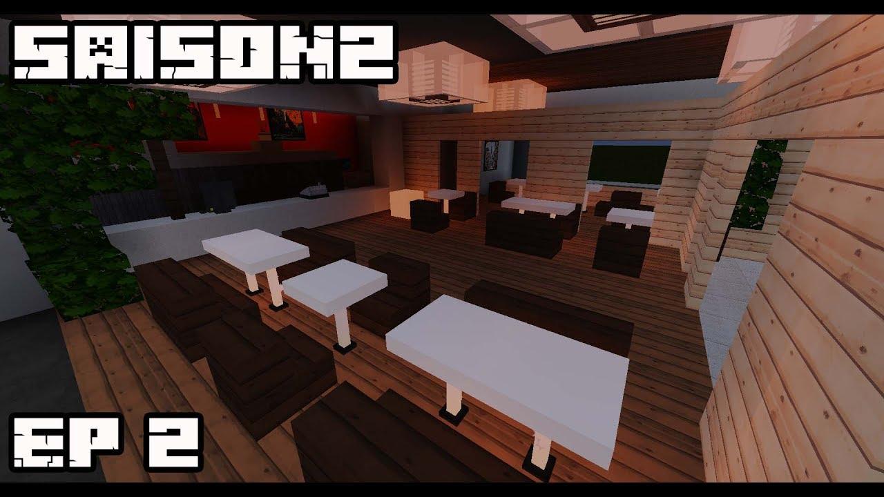 ville minecraft s2 d co int rieur du mcdo 2 youtube. Black Bedroom Furniture Sets. Home Design Ideas