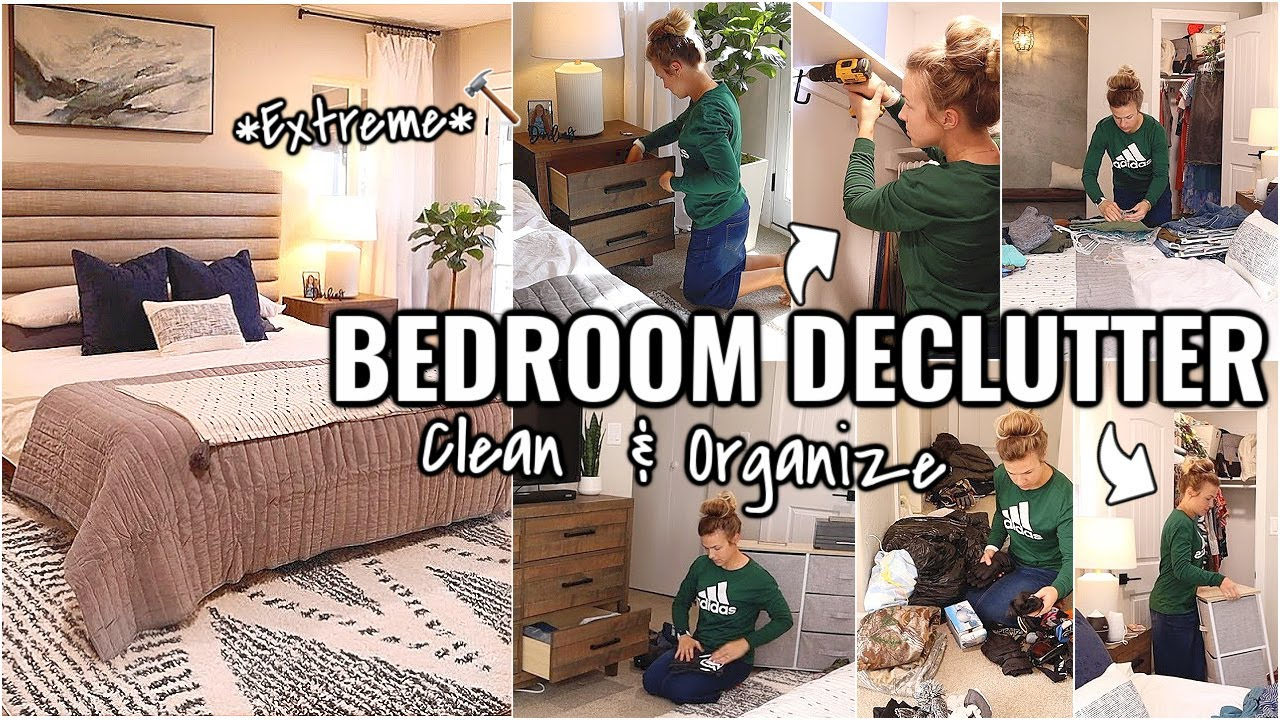 BEDROOM DECLUTTERING!!🏠 CLEAN, ORGANIZE & DECLUTTER WITH ME 2021 | OUR ARIZONA FIXER UPPER