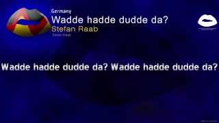 Stefan Raab-Wadde hadde dudde da? (Germany) Eurovision Song Contest 2000