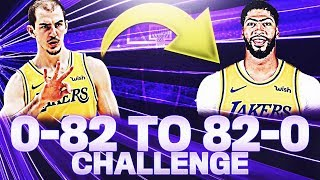0-82 TO 82-0 CHALLENGE ON NBA 2K20!