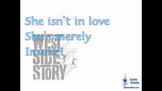 West Side Story - I Feel Pretty (Karaoke Instrumental) w/ Lyrics
