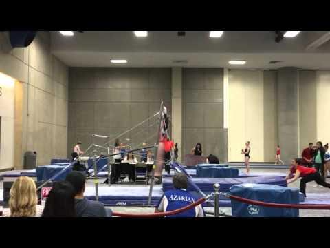 Sarah Clark Gymnastics   Level 10 1st Place Bars   Jaeger-Pak Salto