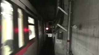 MTR C-train: Arrival to Lohas Park (駛進康城站)