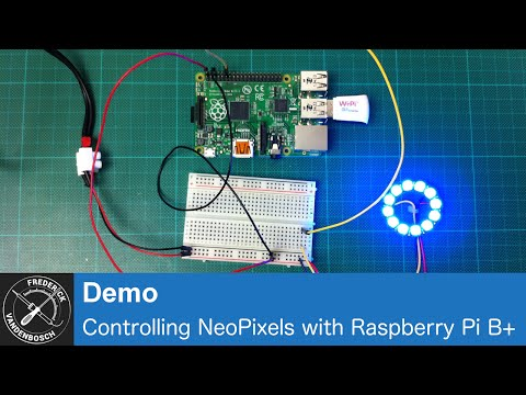 Controlling NeoPixels with the Raspberry Pi A+/B+