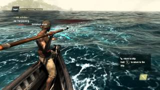 Assassin's Creed IV Black Flag - Harpooning Humpback Whale Part: 100 (HD)