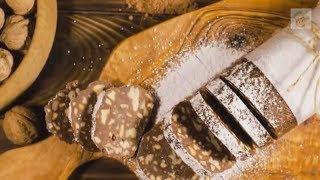 Сладкая колбаска из печенья и какао с орехами. Как приготовить?