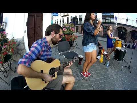 Dzie mora? - Balance (Sara Tavares cover) Минск, пешеходка 20.08.2016
