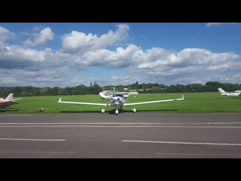 Flying lesson at Redhill aerodrome