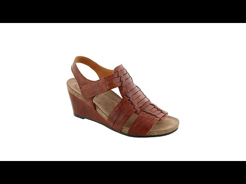 Taos Footwear Tradition Woven Leather Wedge Sandal