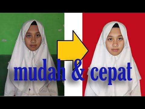 Cara Edit Background Foto Siswa dengan Photoshop - YouTube