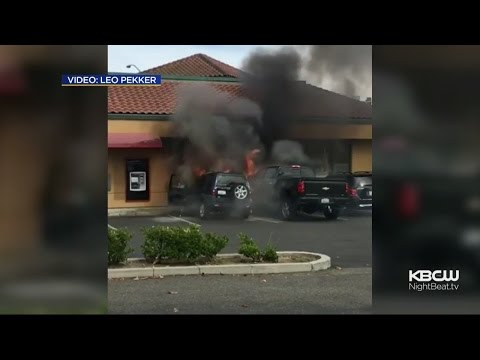 Man Rescues DUI Suspect From Burning Car In Cupertino