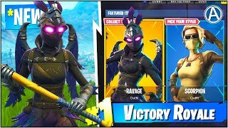 "NEW ""RAVAGE"" SKIN Gameplay UPDATE! (Fortnite Battle Royale)"