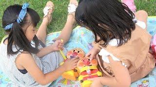 アンパンマンお弁当でピクニックごっこ!おりょうりごっこ Anpanman Lunch Box Toys