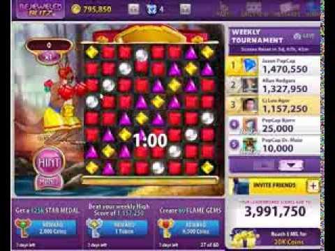 Bejeweled Blitz - Kanga Ruby Level 3 (4x Harvest in a row)