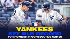 Yankees set MLB record for HR's in consecutive games!