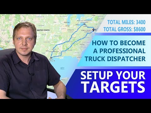 How to become a Professional Truck Dispatcher.  Setup your Targets