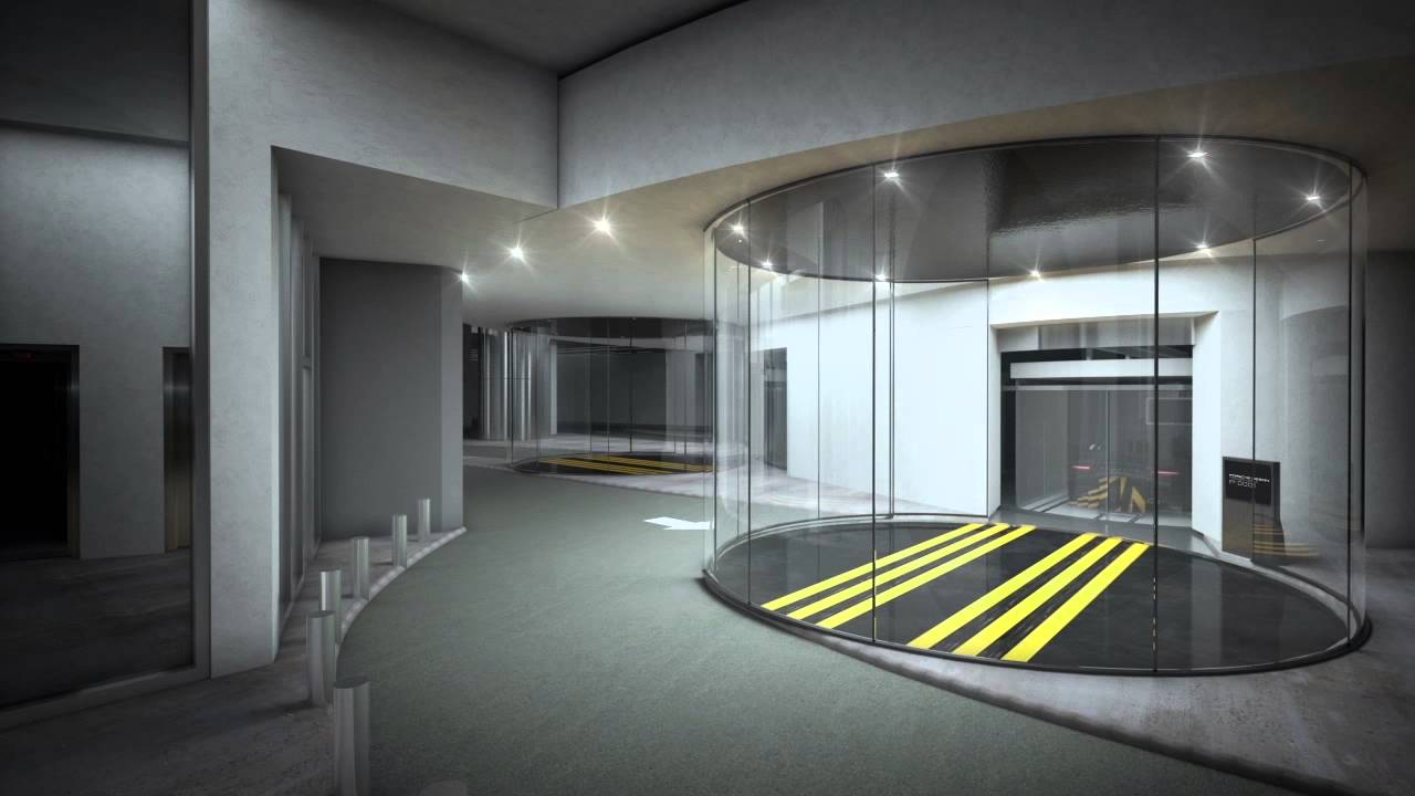 Porsche Design Tower >> Porsche Design Tower - Updated Elevator Sequence - YouTube