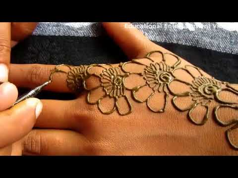 SIMPLE FLORAL MEHNDI DESIGN For Hands