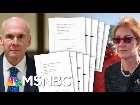 The First Look At The Transcripts From Witnesses In The Impeachment Investigation | Deadline | MSNBC