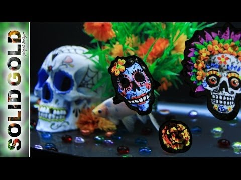 Day Of The Dead Goldfish Tank