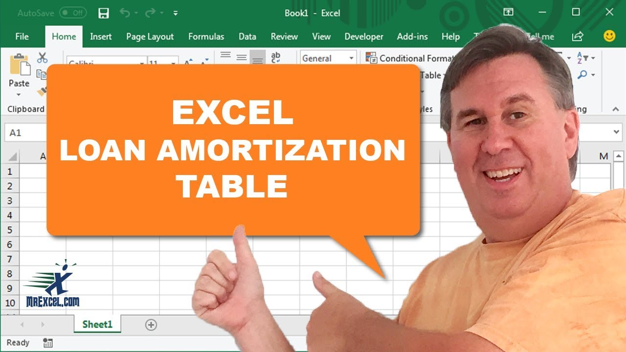learn excel 2013 loan amortization table podcast 1664 youtube