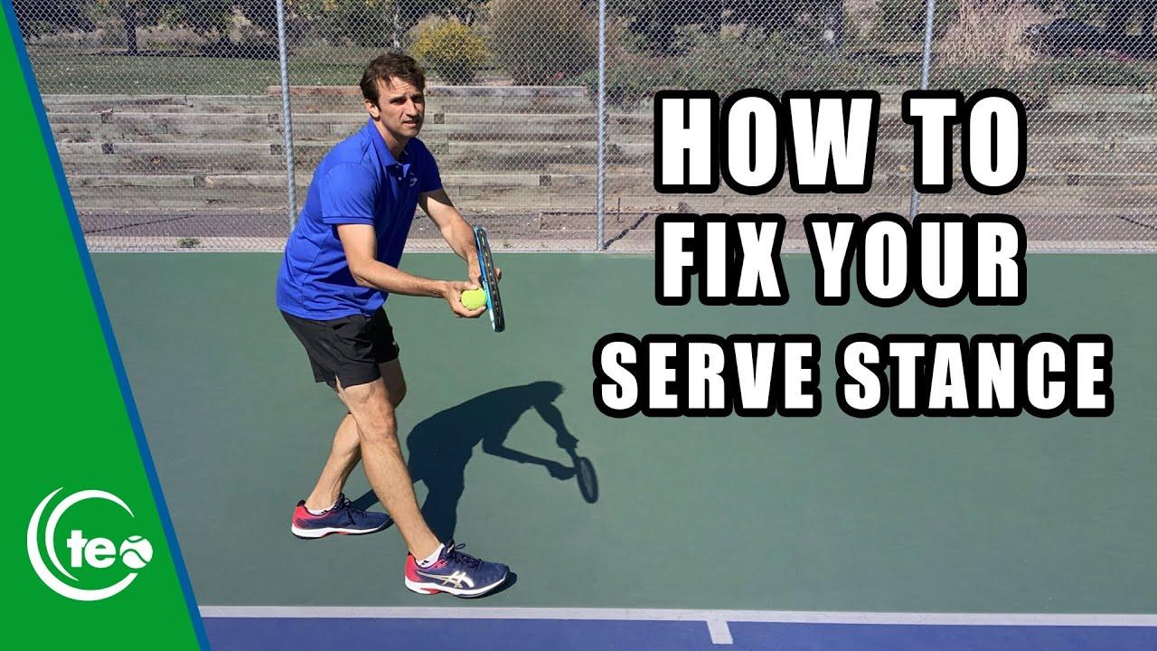 Easily Improve Your Serve Stance I TENNIS SERVE TIP