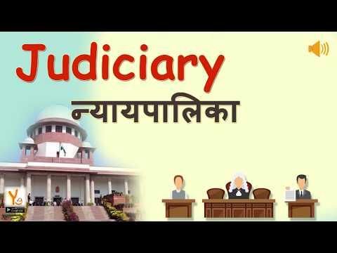 Judicial (Nyapalika Hindi)  , JUDICIARY AND RIGHTS , STRUCTURE OF THE JUDICIARY