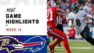 Ravens vs. Bills Week 14 Highlights | NFL 2019