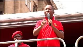 Julius Malema addresses EFF members in Pretoria
