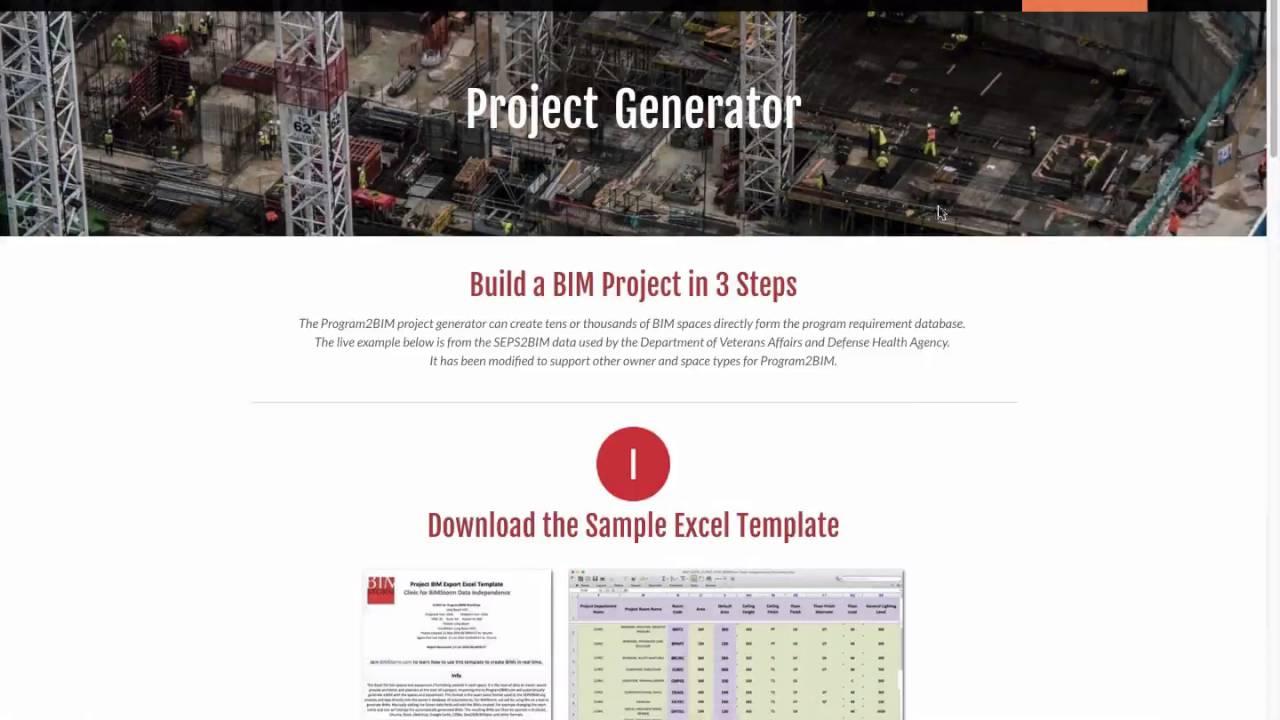 Project Generator - Program2BIM