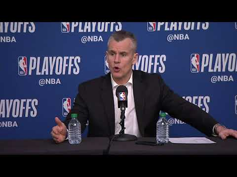 Billy Donovan Postgame Interview | Thunder vs Jazz - Game 3 | April 21, 2018 | 2018 NBA Playoffs