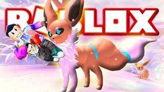 ROBLOX EEVEELUTION : Let's Play Video Pokemon Eevee
