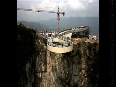 RECORD Worlds Longest Glass Skywalk Opens In China YouTube - China opens worlds longest skywalk