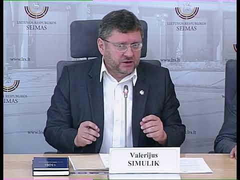 2019-06-04 Seimo nario Valerijaus Simuliko spaudos konferencija