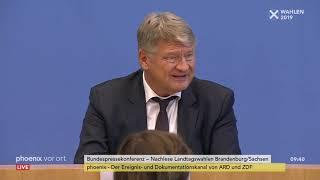AfD: Pressekonferenz zu den Landtagswahlen in Brandenburg und Sachsen am 02.09.19