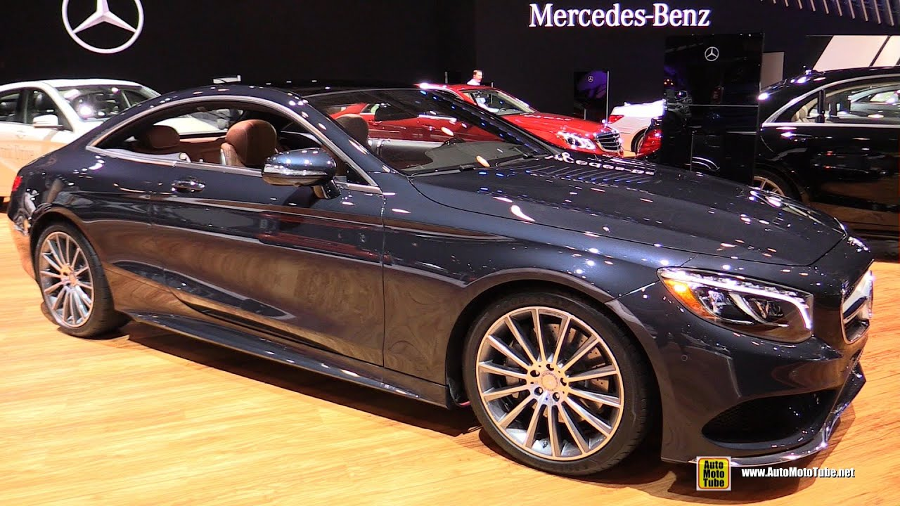 2015 Mercedes Benz S550 Coupe 4Matic   Exterior And Interior Walkaround    2015 NY Auto Show   YouTube
