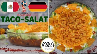 WM Rezepte Deutschland gegen Mexiko   mexikanischer Tacosalat   Chilli sin carne   Nachosalat