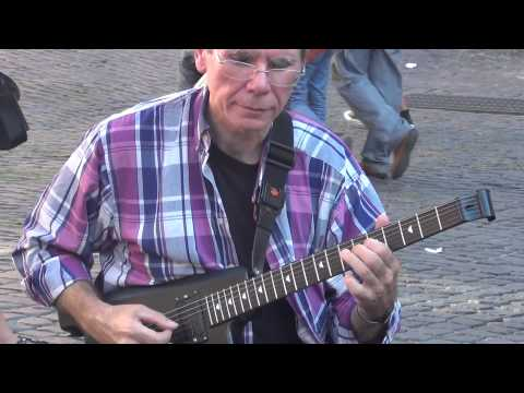 Street Musician Playing Santana's Europa at the Pantheon