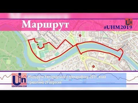 Маршрути Ужгородського півмарафону-2019, який триватиме 29 вересня
