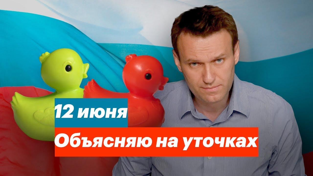 Митинги 12 июня: Навальный объясняет на уточках