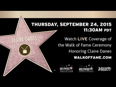 Claire Danes Walk of Fame Ceremony