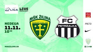 Záznam: MŠK Žilina B - FC Petržalka 5:0 (4:0)